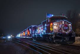 Holiday Lights Train This Holiday Train Brings Joy To Children And Food To The