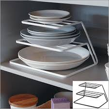 dish storage tower 3 stage pvswk pvsbk kitchen dish stacking rack 3 kitchen tray divider storage convenient toy kitchen