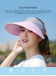 Hats With Lights In Visor Sun Visor Hats Women Large Brim Summer Uv Protection Beach Cap Foldable Driving Hats