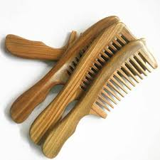 details about natural wood comb afro hair pocket pick handmade wide tooth sandalwood comb