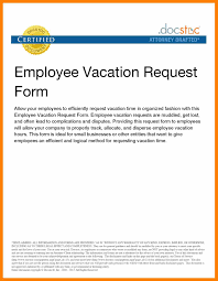 9 Sample Letter For Vacation Leave Commerce Invoice