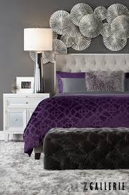 Grey And Purple Bedroom Design Pictures