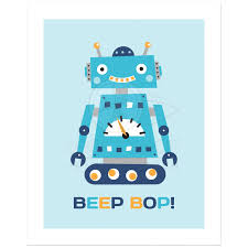 robot nursery wall art