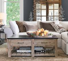 pottery barn white coffee table parker reclaimed wood coffee table 12 r