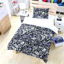 skull bed set king black and white bedding paisley flag within comforter queen idea 8 sets