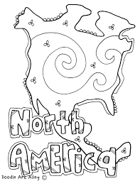 Small Picture Continents Coloring Pages at Classroom Doodles North America