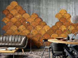 cork wall tiles fish scale ocher colored cork wall tiles can be used for creating your