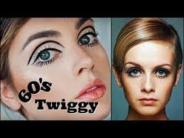 twiggy 60s makeup tutorial mod graphic liner eyelashes 1960s transformation