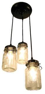 mason jar chandelier trio with vintage quart jars oil rubbed bronze