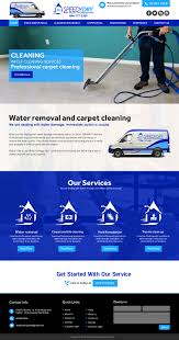 Carpet Cleaning Website Design Bold Serious Cleaning Service Web Design For A Company By
