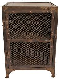 industrial iron furniture. industrial iron mesh bed side cabinet nightstandsandbedsidetables furniture t