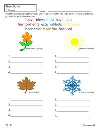 Spanish weather coloring pages