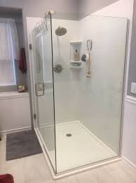 solid surface shower in subway tile pattern innovate building solutions subwaytile showerpanels