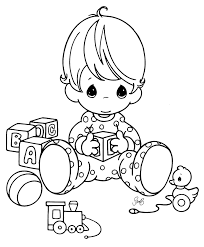 Small Picture Baby Girl Coloring Page Stock Illustration Within Pages esonme