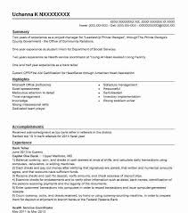 Resume For Teller Position Bank Teller Resume Objectives Resume Sample Livecareer