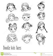 Lo Scarabocchio Scherza I Fronti Avatar Disegnati A Mano Dei Bambini