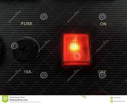 Red Light Switch Red Light Switch For Power Stock Photo Image Of Design