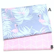 flamingo baby bedding flamingo nursery cotton fabric infant baby bedding patchwork fabric quilt crafts sewing tissue flamingo baby bedding