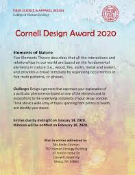 Cornell Fashion Design Competition Cornell Design Award For High School Students Fiber