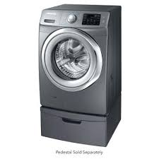 samsung front load washer pedestal. Simple Washer Samsung Washer Pedestal White Cu Ft Platinum Steam Front Load  Sold Separately 27 Dryer Laundry On R