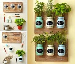 full size of diy vertical herb garden planter box wall kitchen window mason jar ideas alluring