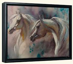 horse canvas art prints horse art framed or unframed canvas art 2 horses