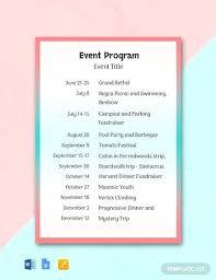 Booklet Program Template Event Program Booklet Template X Popular Program Booklet