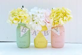 Decorating Mason Jars For Baby Shower 100 EasytoMake Baby Shower Centerpieces Mason jar centerpieces 4