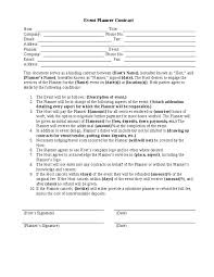 event planning questionnaire event planning agreement template 25 unique event planning template