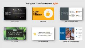 Office 365 Powerpoint Designer Microsofts A I Tools Makes It Easy To Create Smarter