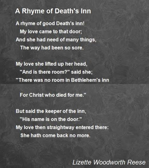 poems about life and death that rhyme