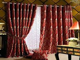 pattern red blackout curtains