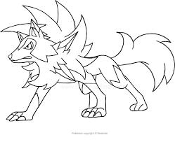 Disegno Di Lycanroc Dei Pokemon Da Colorare Destinato A Disegni Di