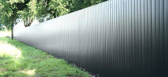 sheet metal fence inspiration ideas architectural fencing panels privacy form how corrugated