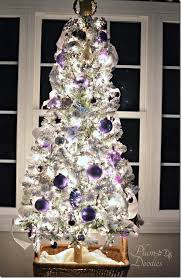 Purple White Silver Themed Christmas Tree