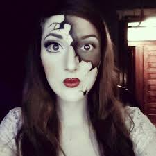broken porcelain doll makeup check out my you channel and subscribe to see the