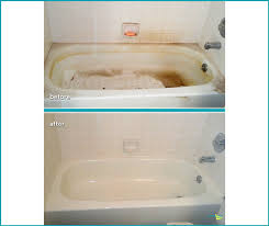 before and after bathtub cleaning