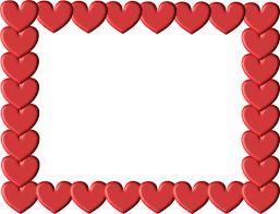 red heart frame image