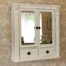 white wooden bathroom furniture. White Wooden Mirrored Bathroom Wall Cabinet Shabby Vintage Chic Cupboard Storage Furniture S
