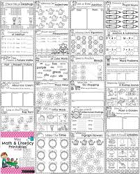 first grade math and literacy printables may preview