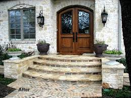 Front door steps home deck remodeling