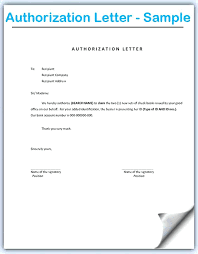 Authorization Letter Template For Visa Best Of Authorisation Letter
