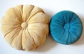 round decorative pillows. Perfect Decorative Pair Vintage Velvet Round Throw Pillows Yellow Aqua Via Etsy On Decorative