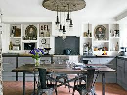 vintage kitchen lighting. kitchen lighting vintage design with industrial fixture on false ceiling over rustic dining m