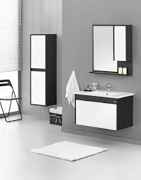Badmöbel Set 80x45cm Unterschrank Waschbecken Spiegelschrank Krea