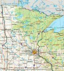 minnesota maps perry castañeda map collection ut library online Mn Highway Map shaded relief map with state boundaries, forest cover, place names, major highways portion of \