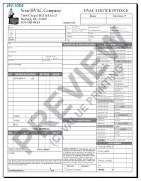 Copy Of An Invoice Template Delectable HVAC Forms