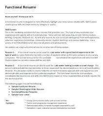 12 Funtional Resume Template Proposal Agenda