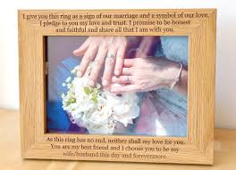 personalised wedding photo frame wedding vows photo frame