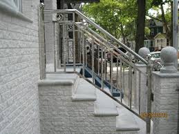 outdoor metal stair railing. Accessories: Prepossessing Lovely Outdoor Metal Stair Railing Ideas Handrail Ideas: Small Version